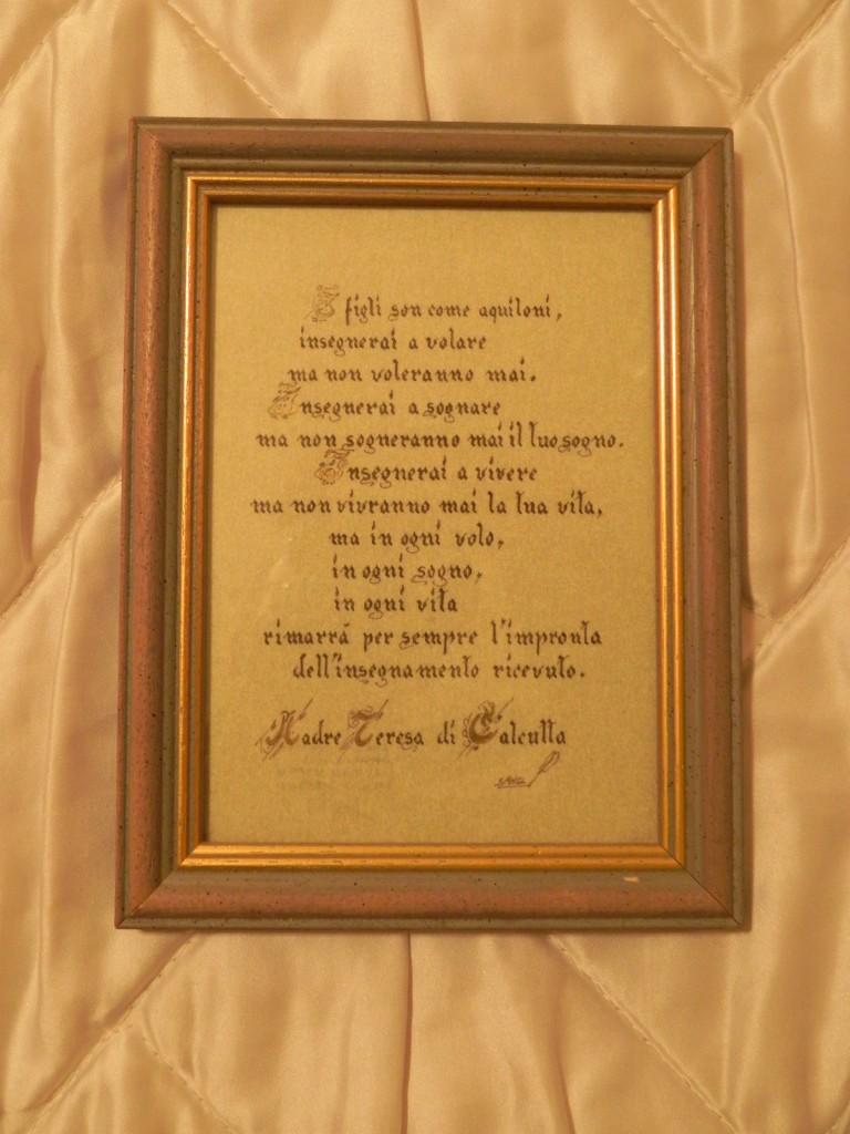 Favoloso Frase di Madre Teresa di Calcutta. | Sangl Grafica FD89